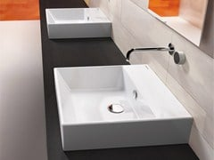 - Countertop rectangular ceramic washbasin PREMIUM 50 | Washbasin - CERAMICA CATALANO