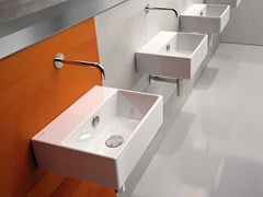 - Rectangular wall-mounted ceramic washbasin PREMIUM 40 | Washbasin - CERAMICA CATALANO