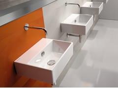 - Rectangular wall-mounted ceramic washbasin PREMIUM 40 | Washbasin - CERAMICA CATALANO