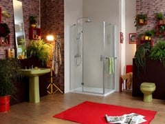 - Corner rectangular shower cabin STILE LIBERO FAS - MEGIUS