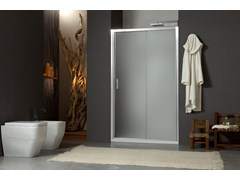 - Niche shower cabin with sliding door MORE LIVE P1S - MEGIUS