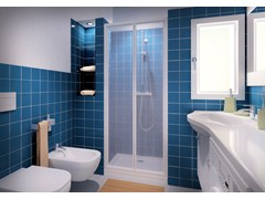 - Niche shower cabin with folding door CLASSIC SOF - MEGIUS