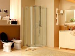 - Corner shower cabin with hinged door MUST R2B - MEGIUS