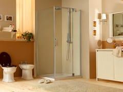 - Corner shower cabin with hinged door MUST LA - MEGIUS