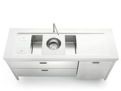 Cucina / lavello in acciaio inoxLIBERI IN CUCINA | Lavello in acciaio inox - ALPES-INOX