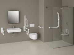 Maniglione bagno ribaltabile con portarotolo250   Maniglione bagno - PROVEX INDUSTRIE