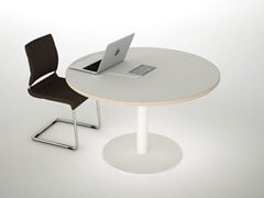 - Melamine meeting table ASTERISCO IN | Round meeting table - ESTEL GROUP