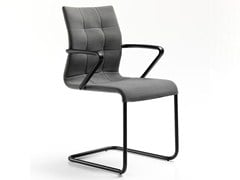 - Cantilever fabric chair with armrests VERSO | Chair with armrests - ESTEL GROUP