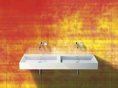 - Double wall-mounted ceramic washbasin PREMIUM 150 | Washbasin - CERAMICA CATALANO