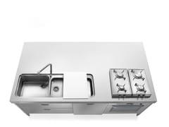 Modulo cucina freestanding in acciaio inoxLIBERI IN CUCINA | Cucina in acciaio inox - ALPES-INOX
