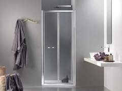 - Niche glass shower cabin with folding door MORELIVE® - MEGIUS