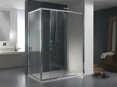 - Corner glass shower cabin MORE LIVE PVF - MEGIUS