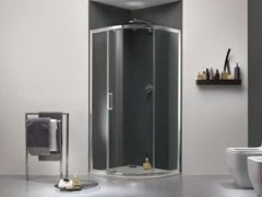 - Niche glass shower cabin with sliding door MORELIVE® - MEGIUS