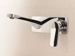 - Wall-mounted washbasin mixer with plate LEVANTE | Wall-mounted washbasin mixer - Fantini Rubinetti