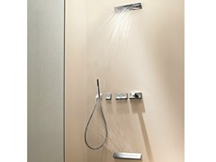 - Thermostatic shower mixer with overhead shower BELVEDERE | Thermostatic shower mixer with overhead shower - Fantini Rubinetti