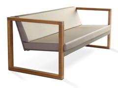 - Modular 3 seater Batyline® garden sofa BANCA LOUNGE TEAK - FueraDentro
