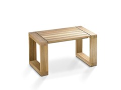 - Rectangular teak garden side table MESITA 45 LOUNGE TEAK - FueraDentro