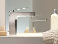 - Countertop 1 hole washbasin mixer DOLCE | Washbasin mixer with brushed finishing - Fantini Rubinetti