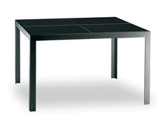 - Square stainless steel garden table NIMIO 140 | Table - FueraDentro