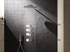 - 4 hole thermostatic shower mixer with overhead shower MARE | 4 hole thermostatic shower mixer - Fantini Rubinetti