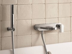 - Wall-mounted bathtub mixer with hand shower MARE | Bathtub mixer with hand shower - Fantini Rubinetti