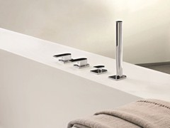 - 4 hole bathtub set with hand shower MARE | 4 hole bathtub set - Fantini Rubinetti