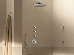 - 4 hole thermostatic shower mixer with hand shower NOSTROMO - 3903A/3803SB - 8037 - Fantini Rubinetti