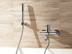 - Wall-mounted bathtub mixer with hand shower CAFÈ | Wall-mounted bathtub mixer - Fantini Rubinetti