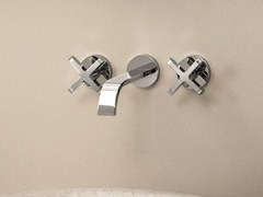 - 3 hole wall-mounted washbasin tap RIVIERA | Wall-mounted washbasin tap - Fantini Rubinetti