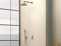 - Shower mixer with overhead shower RIVIERA | Shower mixer with diverter - Fantini Rubinetti