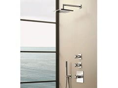 - 3 hole thermostatic shower mixer with hand shower RIVIERA | 3 hole thermostatic shower mixer - Fantini Rubinetti