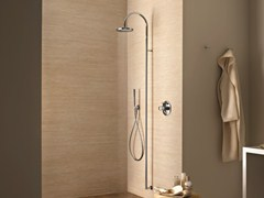 - Wall-mounted shower panel with hand shower with overhead shower Wall-mounted shower panel - Fantini Rubinetti
