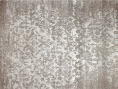 - Patterned handmade custom rug TAJ MAHAL SILVER - EDITION BOUGAINVILLE
