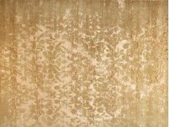 - Patterned handmade rectangular rug TAJ MAHAL GOLD - EDITION BOUGAINVILLE