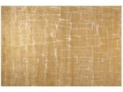 - Patterned handmade rectangular rug COLOMBO LIGHT GOLD - EDITION BOUGAINVILLE