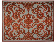 - Patterned rectangular rug CARDINAL COQ DE ROCHE - EDITION BOUGAINVILLE