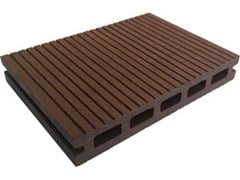 - Engineered wood outdoor floor tiles / decking Hollow Profile 2200 Copper Brown - NOVOWOOD