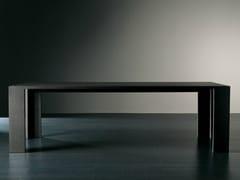 - Rectangular wooden dining table BRANDO | Rectangular table - Meridiani