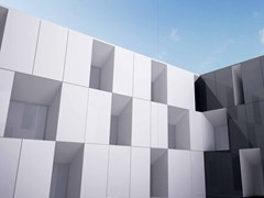 - Indoor/outdoor porcelain stoneware wall/floor tiles ULTRA IRIDIUM │BIANCO - ARIOSTEA