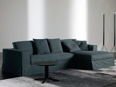- Sofa with removable cover with chaise longue GUINN | Sofa with chaise longue - Meridiani