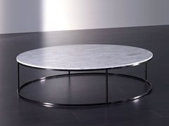 - Low round marble coffee table BLOM | Marble coffee table - Meridiani