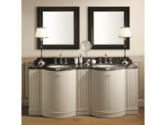 - Double wooden bathroom cabinet with doors BOSTON 200 | Double Vanity unit - GENTRY HOME