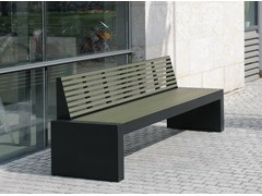 - Stainless steel and PET Bench with back COMFONY 40 | Bench with back - BENKERT BÄNKE