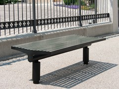 - Backless stainless steel and PET Bench COMFONY 400 | Backless Bench - BENKERT BÄNKE