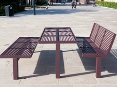 - Stainless steel and PET Table for public areas SICORUM M 400   Table for public areas - BENKERT BÄNKE