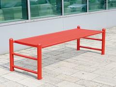 - Backless stainless steel Bench SIARDO 130 R | Backless Bench - BENKERT BÄNKE
