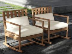 - Teak rocking chair SQUARE | Rocking chair - Meridiani