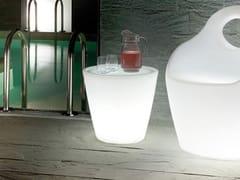 - Round plastic coffee table with light OMNIA-V LIGHT - DOMITALIA