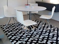 - Upholstered leather chair FLEXA - DOMITALIA