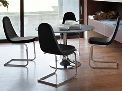 - Cantilever upholstered steel chair BLADE-S - DOMITALIA